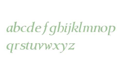 Amitale Wide W01 Italic