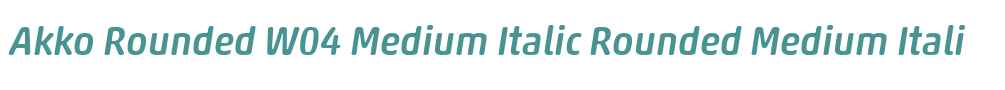 Akko Rounded W04 Medium Italic