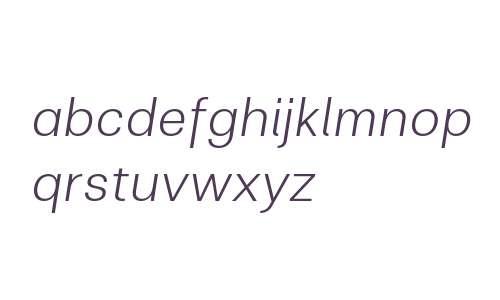 Clinica W03 Light Italic