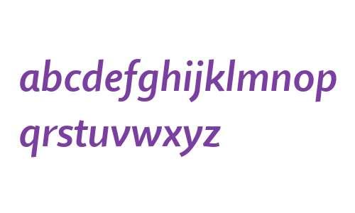 Quire Sans W04 SemiBold Italic