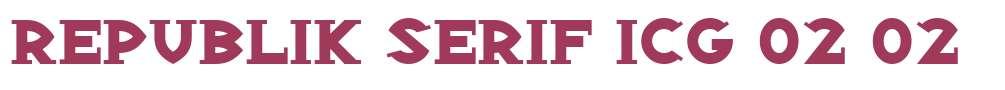 Republik Serif ICG 02