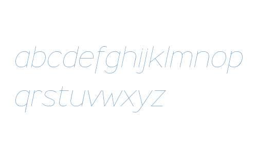 Ministry W00 Thin Italic