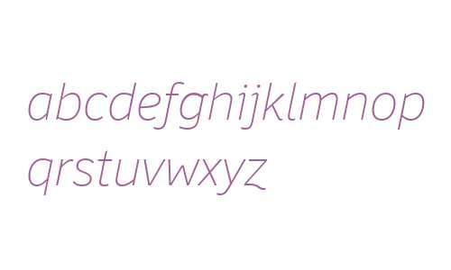 Felbridge W04 Thin Italic
