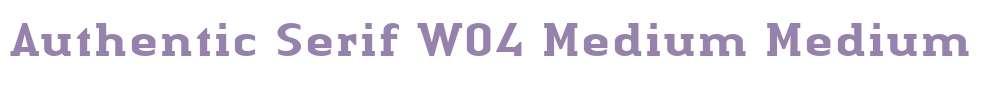 Authentic Serif W04 Medium