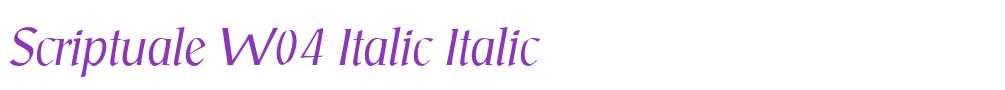 Scriptuale W04 Italic