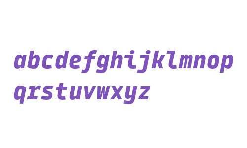 Tabular Black Italic