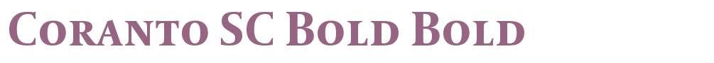 Coranto SC Bold