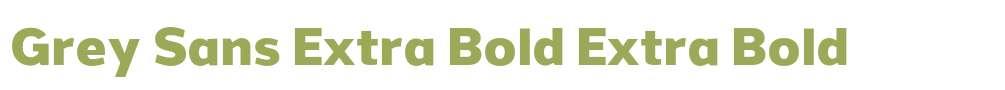 Grey Sans Extra Bold