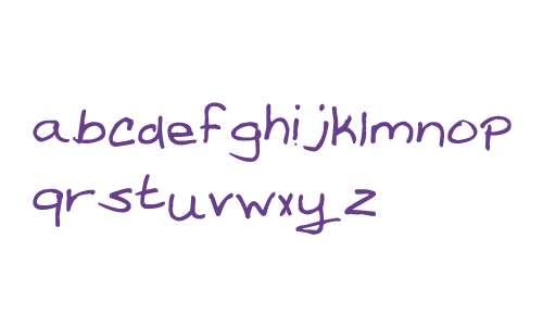 Amanda Reed's Font