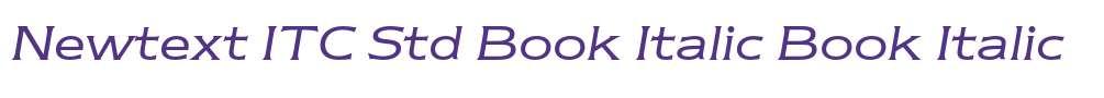 Newtext ITC Std Book Italic