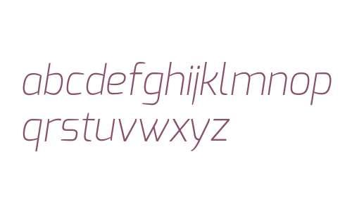 Exo Extra Light Italic