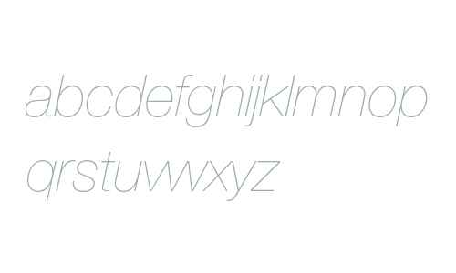 Helvetica Neue LT Pro 26 Ultra Light Italic