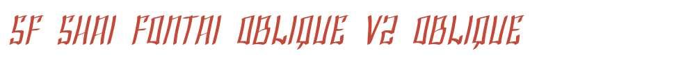 SF Shai Fontai Oblique V2