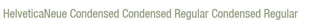 HelveticaNeue Condensed Condensed Regular