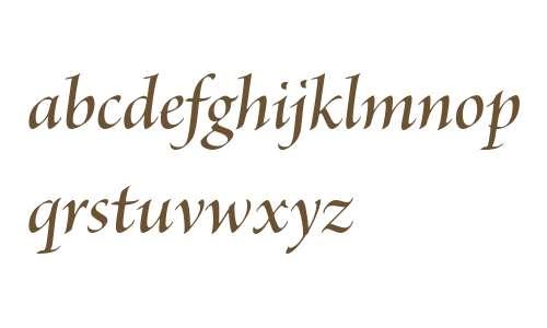 Brioso Pro Semibold Italic Display
