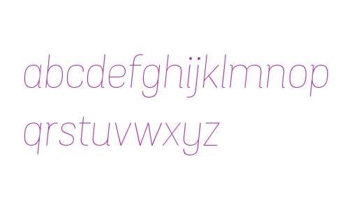 Grota Sans Rd W00 Thin Italic