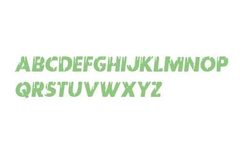 Red Undead Semi-Italic