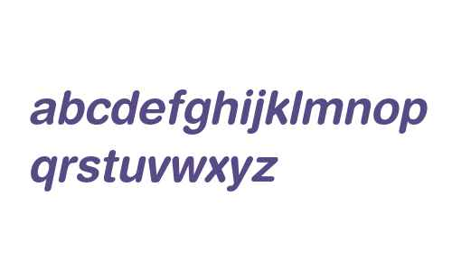 Helvetica Rounded LT W04 BdObl