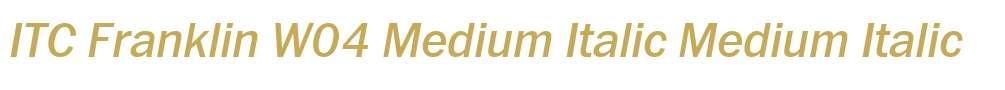 ITC Franklin W04 Medium Italic