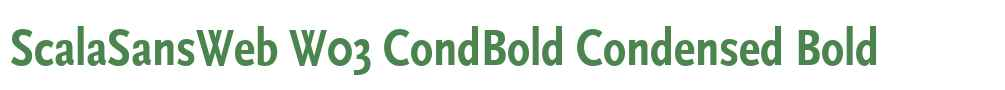 ScalaSansWeb W03 CondBold