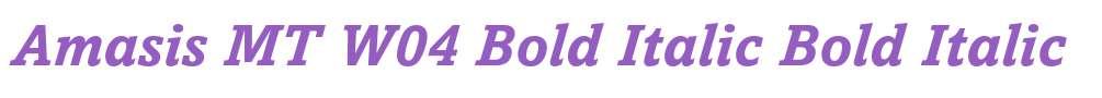 Amasis MT W04 Bold Italic