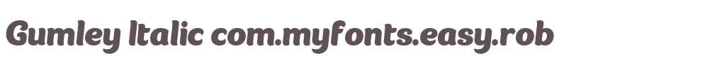 Gumley Italic