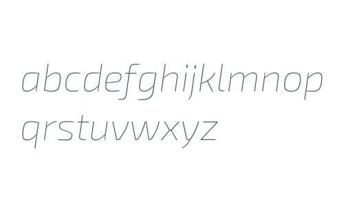 Exo 2.0 Thin Italic