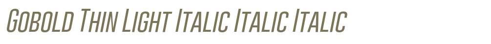 Gobold Thin Light Italic Italic