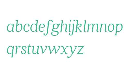 Quincy CF Light Italic