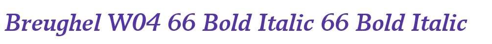 Breughel W04 66 Bold Italic