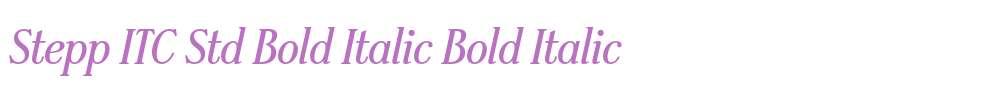 Stepp ITC Std Bold Italic