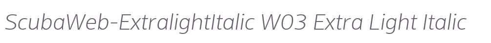 ScubaWeb-ExtralightItalic W03