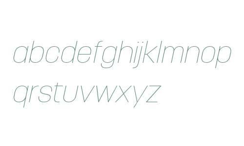 Korolev W04 Thin Italic