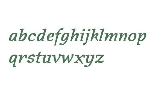 Oldrichium ITC W01 Demi Italic