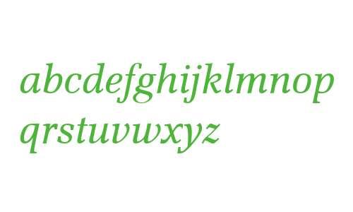 Scherzo W01 Italic