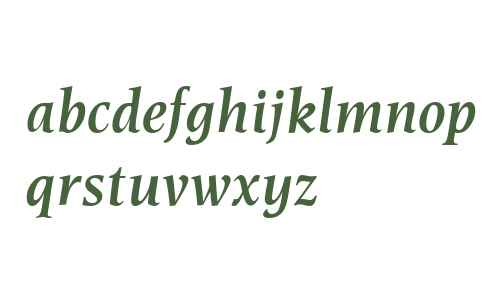 Esperanto W00 SemiboldItalic