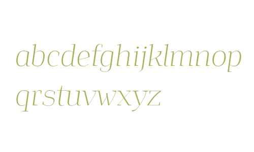 Jaymont PERSONAL Thin Italic