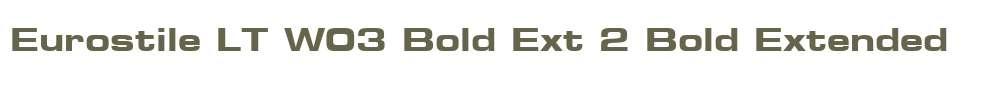 Eurostile LT W03 Bold Ext 2