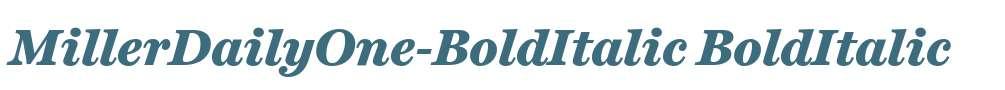MillerDailyOne-BoldItalic