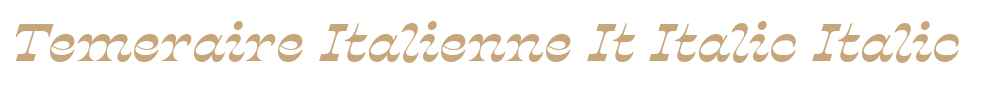 Temeraire Italienne It Italic