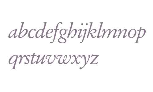 Garamond* Italic