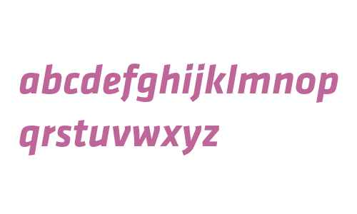 Klavika Bold Italic