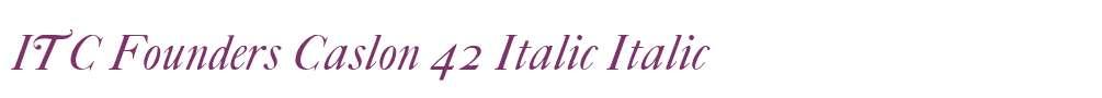 ITC Founders Caslon 42 Italic