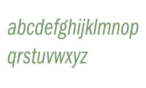 ITC Franklin Gothic LT Book Compressed Italic