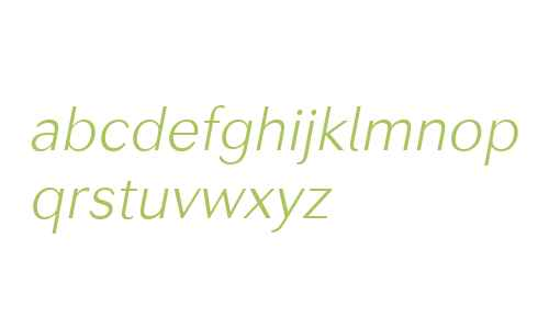 Seconda W00 Thin Italic