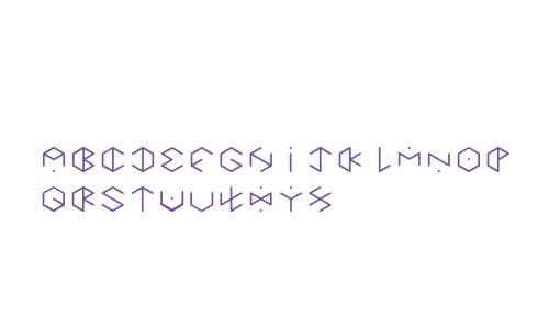 HEXAGON cup font Regular