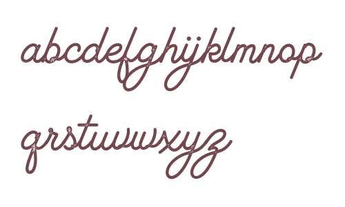 Lambretta Script Stamp