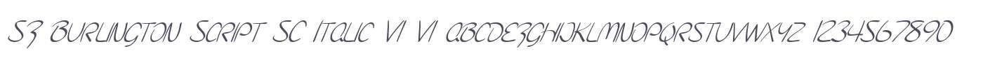SF Burlington Script SC Italic V1 V1