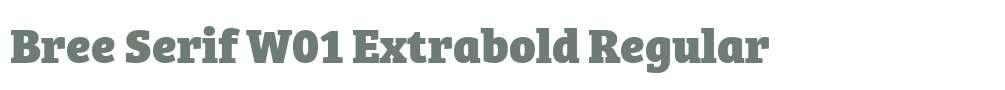 Bree Serif W01 Extrabold