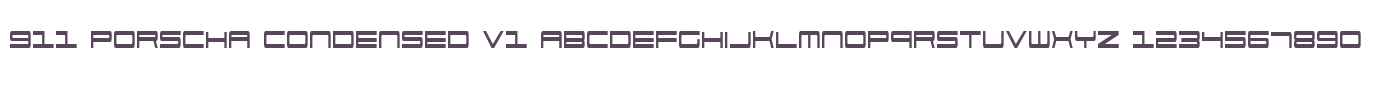 911 Porscha Condensed V1